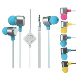 E2 In-Ear Headphones Phone Headset With Mic For iPhone iPad Samsung HTC