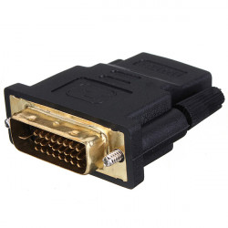 Gold Plate DVI Male To HDMI Female M-F Adapter Converter For HDTV Adaptor