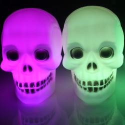 Halloween Leuchtende bunte LED Blitz Schädel Nachtlicht Lampen Geschenk Spielzeug