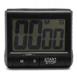 LCD Digital Kitchen Timer Count Down Up Clock Loud Alarm Black White