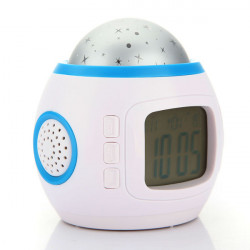 LED Starry Star Sky Projection Digital Music Alarm Clock