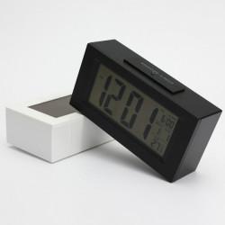 Stort LCD Display Digital Snooze Vækkeur Termometer LED Baggrundsbelysning