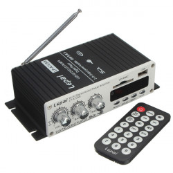 Lepai LP-A7 USB Mini Car Power Amplifier USB SD DVD CD FM MP3 With Remote Controller