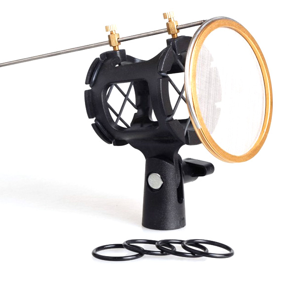 Mic Suspension Shock Mount Stand Holder Clip Pop Filter For Microphone Studio Media Players