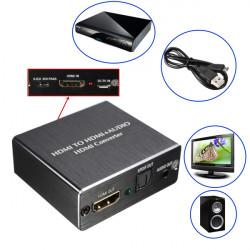 Mini 1080P 4K X 2K HDMI til HDMI HiFi Audio Video HDTV HD SPDIF Konverter til PC HDTV