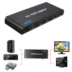 Mini 1 In 4 1080P Out HDMI 4 Port Splitter Video Composite TV Converter Adapter
