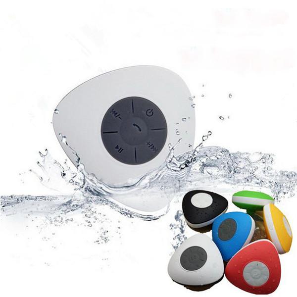 Mini Bärbar Vattentät Trådlös Bluetooth Dusch Högtalare Mic Handsfree Sug Mediaspelare