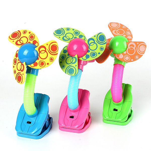 Mini Safety Clip-on Fan For Baby Prams Strollers Gyms 3 Colors Electronic Accessories & Gadgets