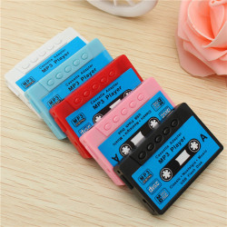 Mini USB MP3 Music Player Disk Cassette Shape Support 1-32GB Micro SD TF Card