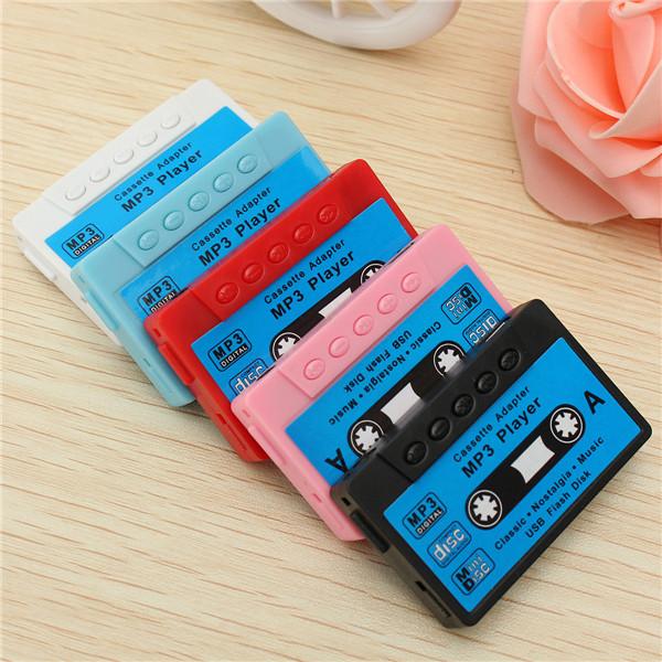 Mini USB MP3 Musik Player-kassetten Form Support 1-32GB Micro SD TF-kort Mediaspelare