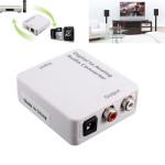 Optisk Digital Koaxial Toslink Signal till Analog Audio Konverter Adapter DC 5V Mediaspelare