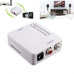 Optical Digital Coaxial Toslink Signal To Analog Audio Converter Adapter DC 5V