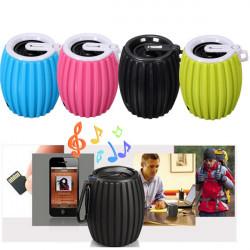 Udendørs Grenade Shape Bluetooth Trådløs Portable Håndfri Højttaler med Mic for Cell Phone Tablet