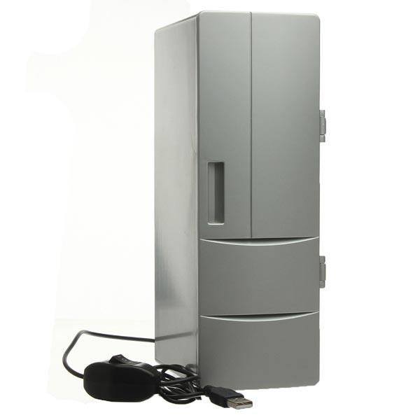 PC Laptop Mini USB Kühlschrank mit Gefrierfach Kühlschrank Getränke Getränkedosen Warmer Cooler Elektronischer Zubehör & Geräte