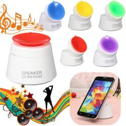 Tragbare Mini Lautsprecher Sucker Schlag Standplatz Stereolautsprecher Halter für Telefon Ipod