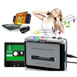 Portable USB Cassette Capture Tape To PC Super USB Cassette To MP3 Converter Cassette-To-MP3 Capture