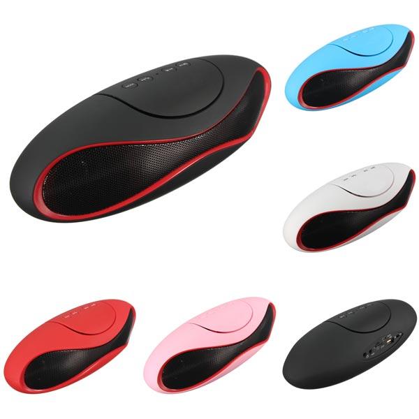 Tragbare Drahtlos Stereo Bluetooth Lautsprecher TF AUX USB FM Radio mit Mic Super Bass Media Player