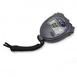 Pro Sports Digital LCD Stopwatch Counter Timer Chronograph Watch Alarm With Strap