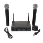 Pro VHF Dual Wireless Cordless Microphone System UT4 Type for Karaoke KTV DJ Media Players