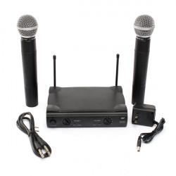 Pro VHF Dual Trådlös Sladdlös Mikrofonsystem UT4 Typ för Karaoke KTV DJ