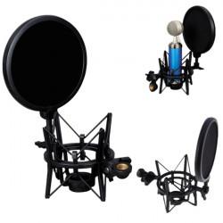 Professionell Mikrofon Mic Shock Mount Studio Ställ Pop med Skärmad Filter Skärm R1BO