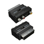 RGB Scart Male To 3 RCA Female S-Video AV TV Audio Cable Adapter Converter Media Players