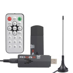 ROHS Mini Digital USB 2.0 TV Stick FM+DAB DVB-T RTL2832U + R820T Support SDR Tuner Receiver With Remote Control For Computer PC Media Players