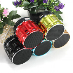 S28 Metal Mini Portable Wireless Bluetooth Stereo Bass Speaker With Handfree Mic For Smart Phone Laptop MP3 MP4 Player