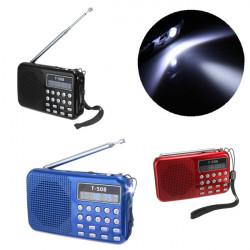 T508 Mini Portable LED Stereo FM Radio Speaker USB TF Card MP3 Music Player