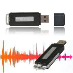USB 2.0 Digital 1-32GB Audio Diktafon Kortläsare Disk Penna Blixt Drive