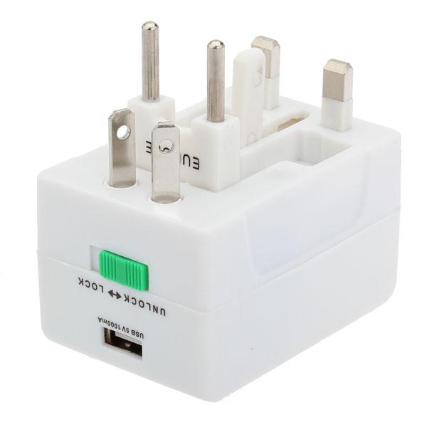 US UK AU EU USB Universal Travel Wall Adapter Connector AC Plug & Adaptors