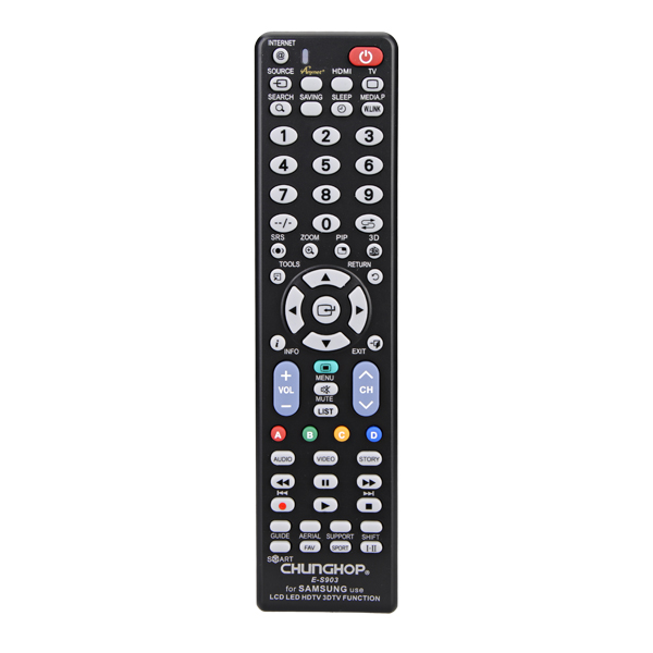 Universal E-S903 TV Remote Control Works For Samsung LCD LED HDTV Media Players