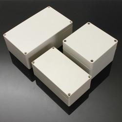 Wasserdicht ABS Kunststoff elektronische Box weiß Hülle 6 Größe