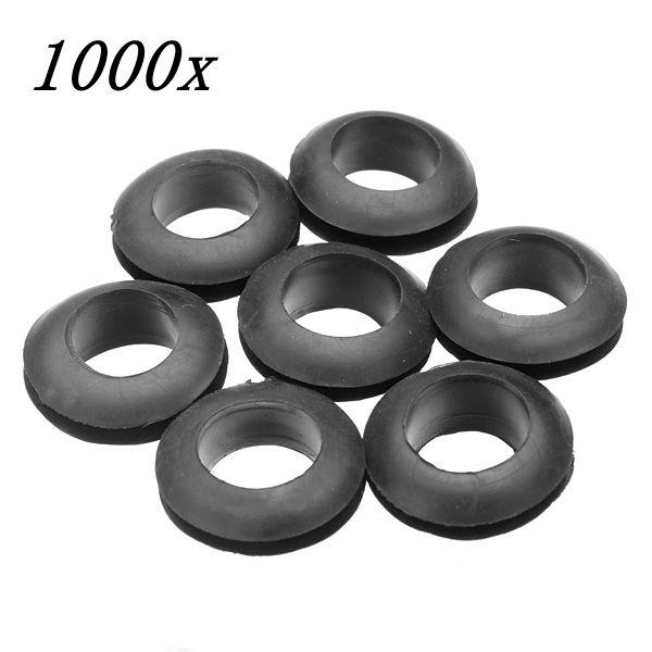 1000stk Gummiring Kabel Wire Beskyttende Ring 10mm Dobbeltsidet Industrial & Videnskab