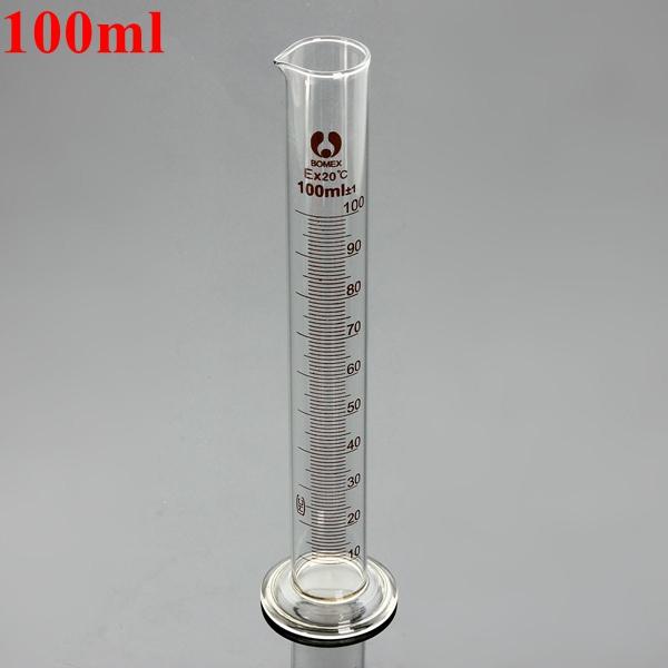 100ml Glass Uddannet Måling Cylinder Tube Round Base And Tud Industrial & Videnskab
