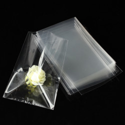 100pc Clear Snack Bag Cellophane For Gift Chocolate Lollipop 12x8cm