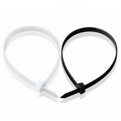 100stk 100-450MM Nylon Kabel Wire Zip Slips Cord Wraps Sort & White