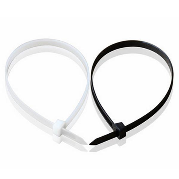 100stk 100-450MM Nylon Kabel Wire Zip Slips Cord Wraps Sort & White Industrial & Videnskab