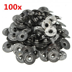 100stk 15 * 3mm Waxed Candle Wick Metal Sustainers
