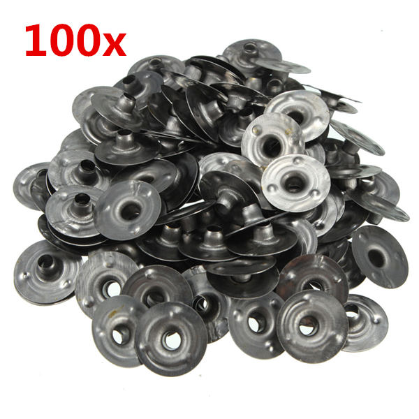 100stk 15 * 3mm Waxed Candle Wick Metal Sustainers Industrial & Videnskab