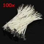 100stk 15cm Wax Candle Cotton Wicks med Metal Sustainers Industrial & Videnskab