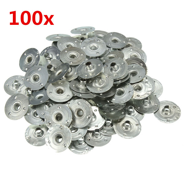100pcs 20*6mm Waxed Candle Wick Metal Sustainers Industrial & Scientific