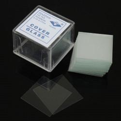 100st 22 * 22mm Mikroskop Täckskyddsglas Lab Supply