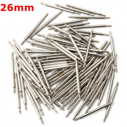 100pcs 26mm Stainless Steel Watch Band Spring Bars Strap Link Pins