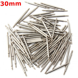 100pcs 30mm Stainless Steel Watch Band Spring Bars Strap Link Pins