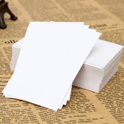 100st Blank Vitbok Visitkort Word Kortet Notera Kortet 90x55mm