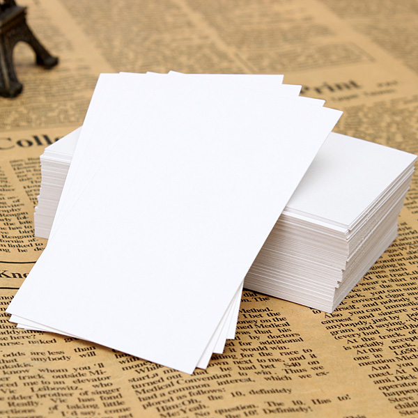 100pcs Blank White Paper Card Business Word Card Note Card 90x55mm Industrial & Scientific