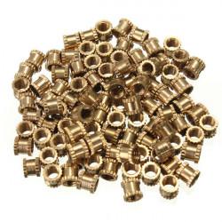 100stk M3 * 4mm H62 Messing Knurl Muttern Zubehör für Heimwerker
