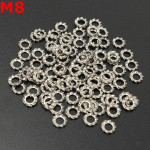 100pcs M8 A2 Stainless Steel External Tooth Star Lock Washer Gasket Industrial & Scientific