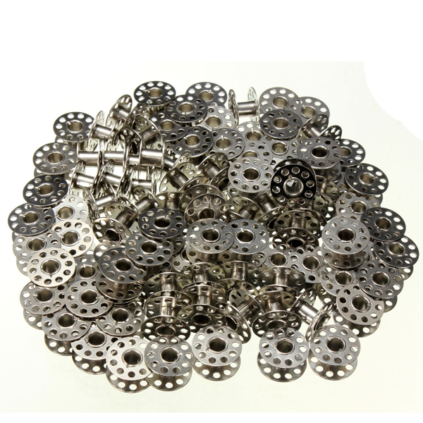 100pcs Metal Empty Bobbins For Brother Janome Singer Sewing Machine Industrial & Scientific